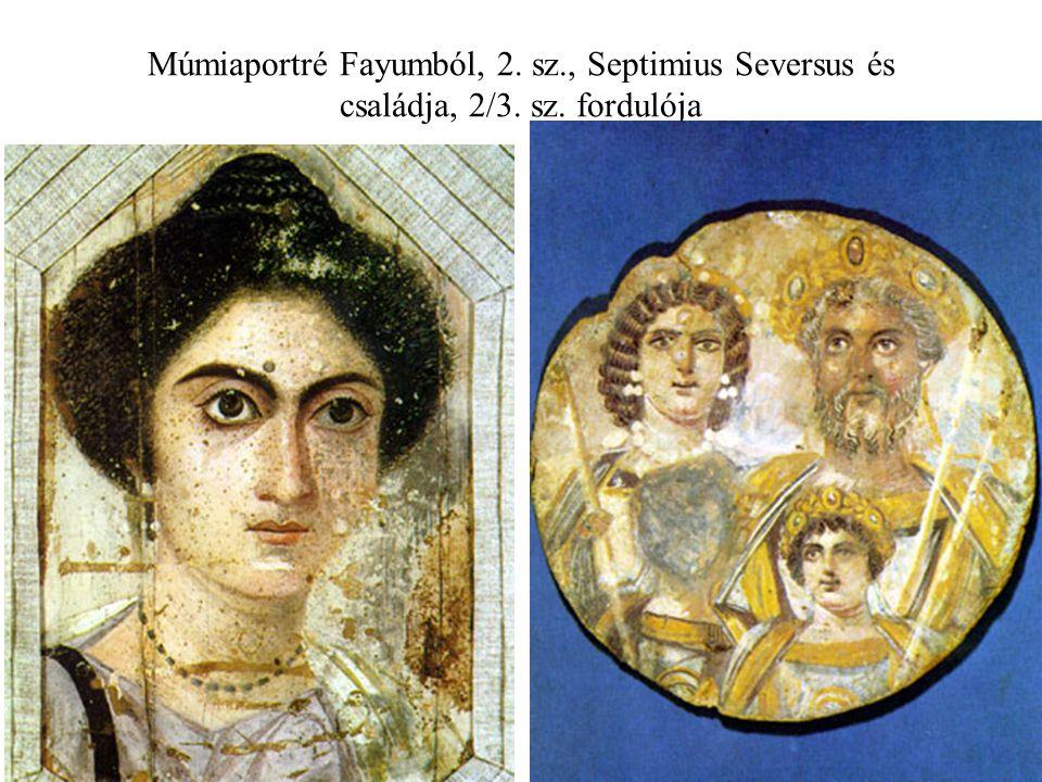 Múmiaportré Fayumból, 2. sz., Septimius Seversus és családja, 2/3. sz. fordulója