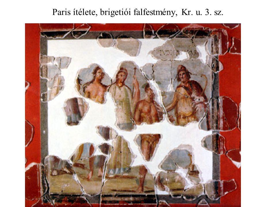 Paris ítélete, brigetiói falfestmény, Kr. u. 3. sz.