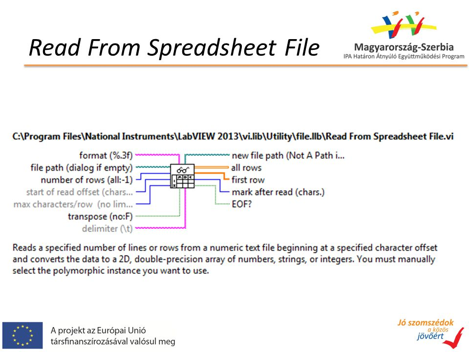 Read From Spreadsheet File