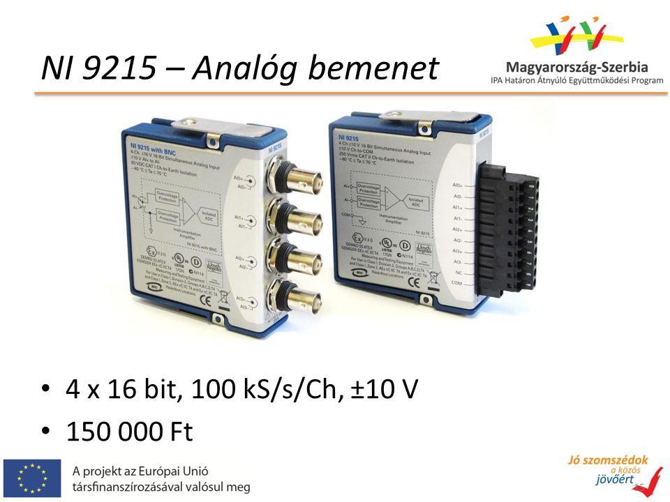 NI 9215 – Analóg bemenet 4 x 16 bit, 100 kS/s/Ch, ±10 V 150 000 Ft 15