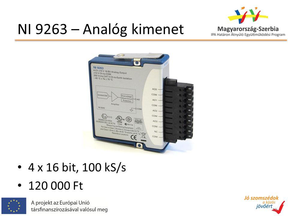 NI 9263 – Analóg kimenet 4 x 16 bit, 100 kS/s 120 000 Ft 19
