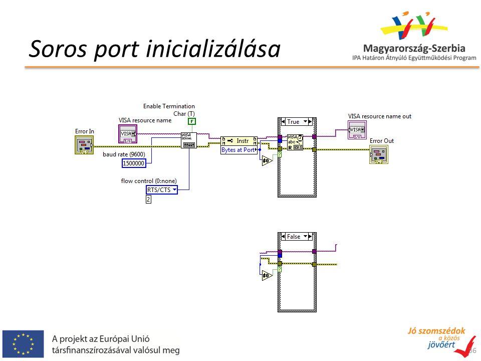 Soros port inicializálása 36