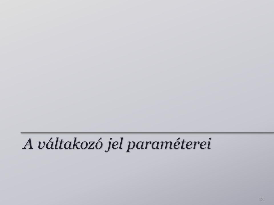 A váltakozó jel paraméterei 13