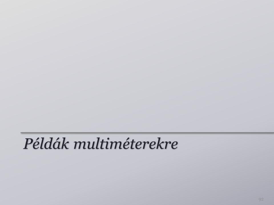 Példák multiméterekre 92