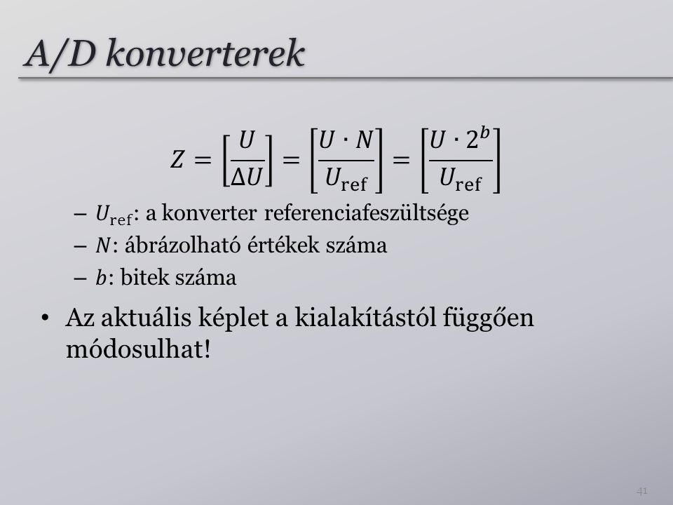 A/D konverterek 41