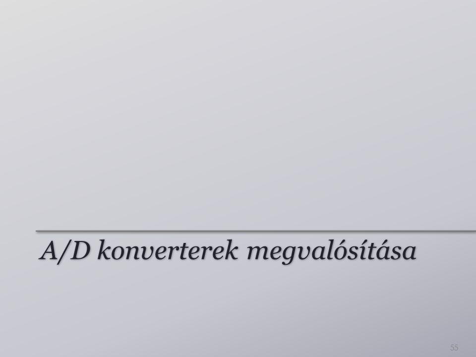 A/D konverterek megvalósítása 55