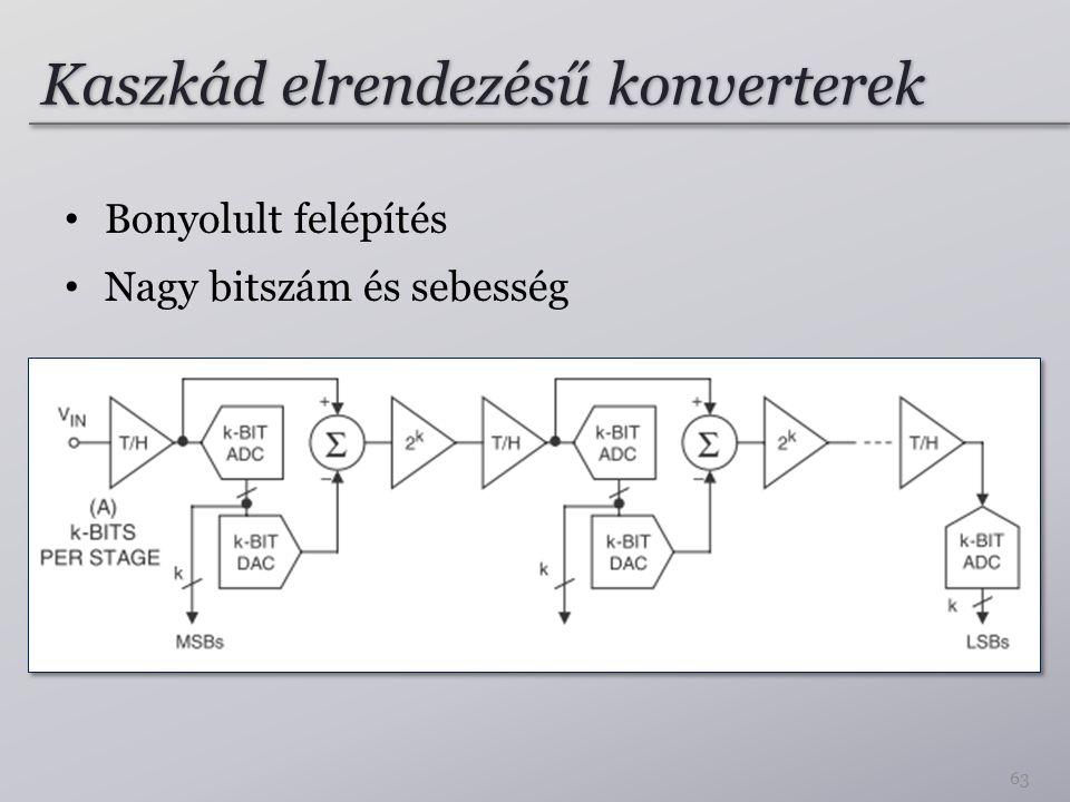 Kaszkád elrendezésű konverterek Bonyolult felépítés Nagy bitszám és sebesség 63