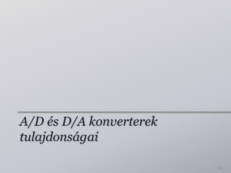 A/D és D/A konverterek tulajdonságai 64
