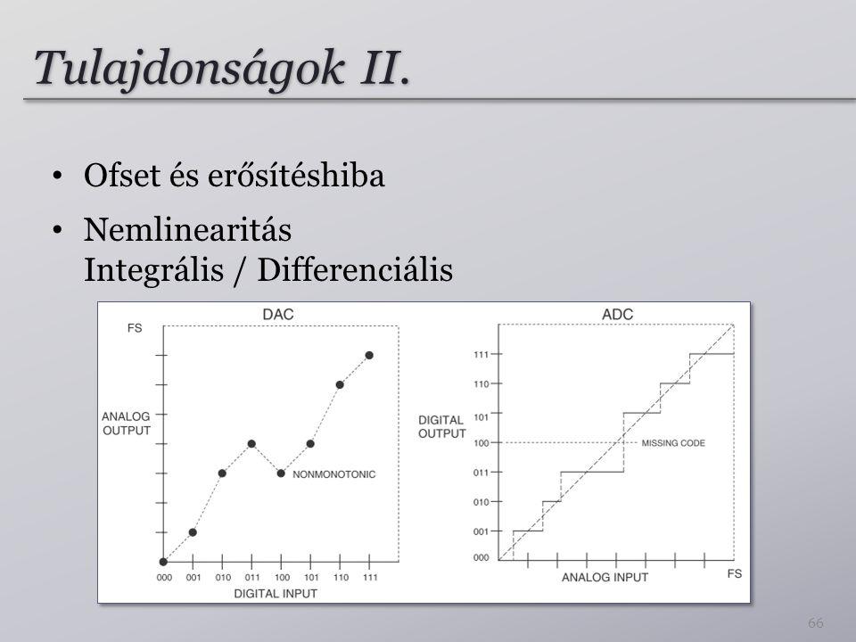 Tulajdonságok II. Ofset és erősítéshiba Nemlinearitás Integrális / Differenciális 66