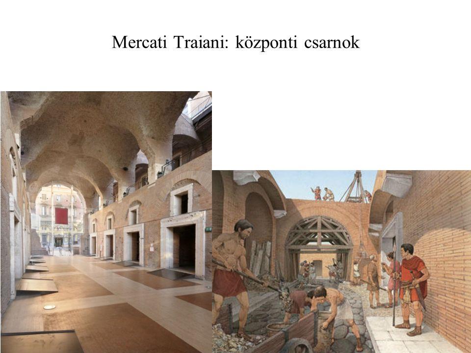 Mercati Traiani: központi csarnok