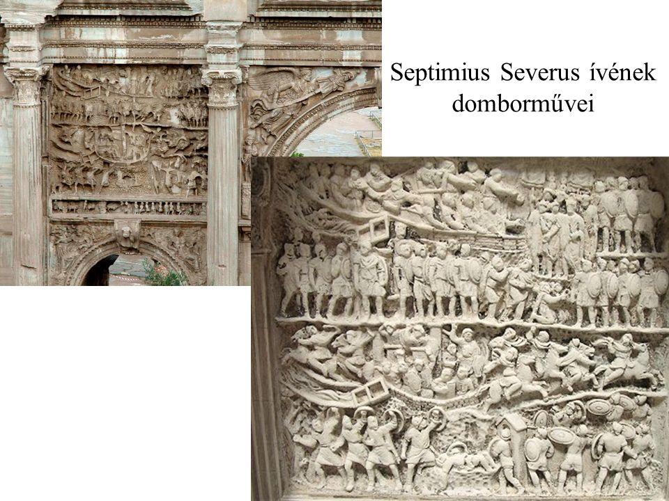 Septimius Severus ívének domborművei