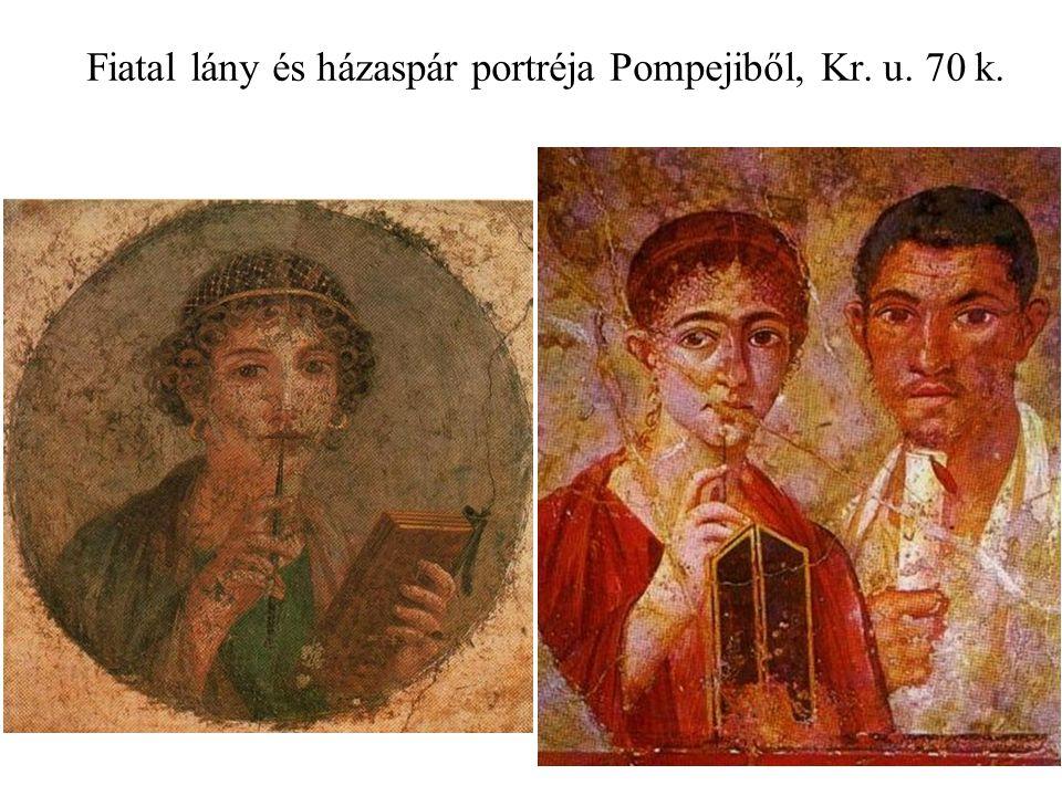 Fiatal lány és házaspár portréja Pompejiből, Kr. u. 70 k.