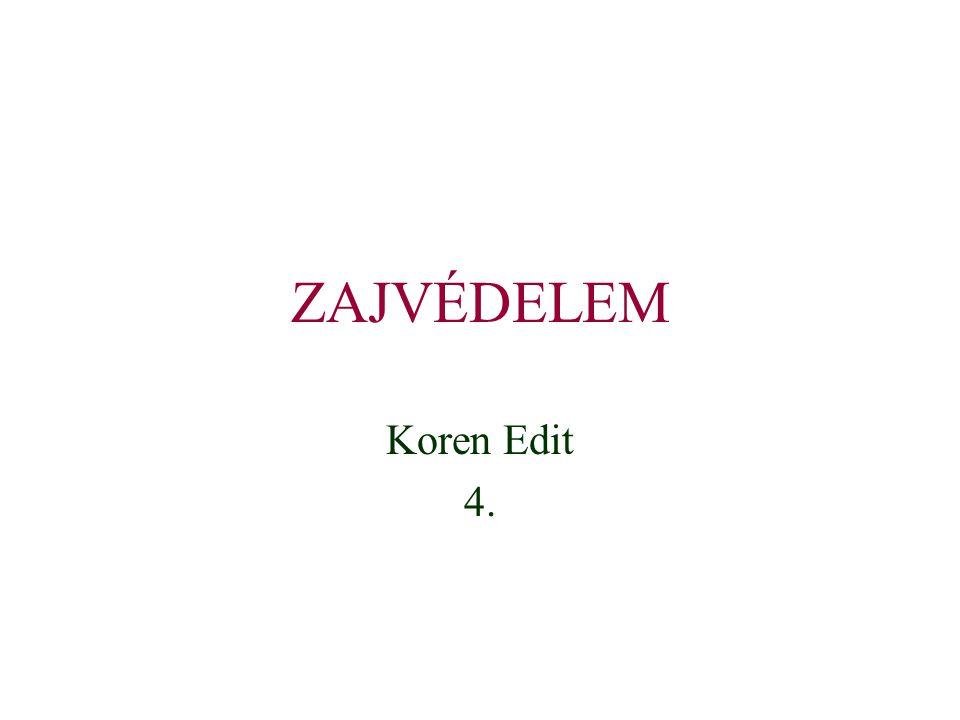 ZAJVÉDELEM Koren Edit 4.