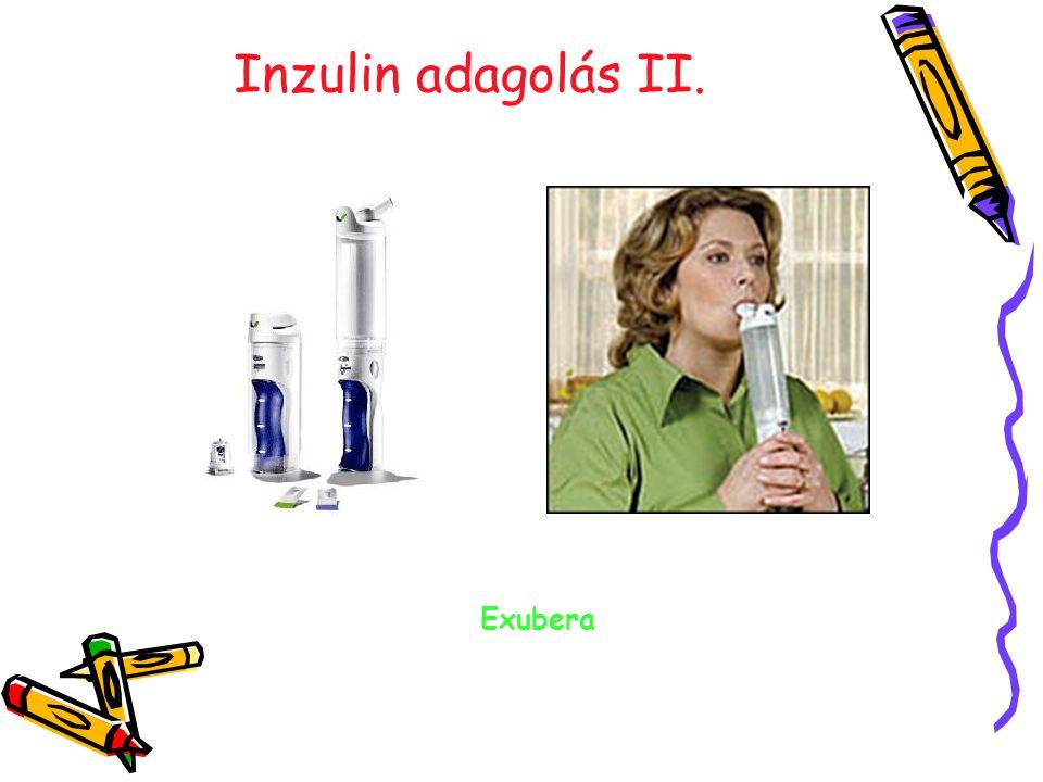 Inzulin adagolás II. Exubera