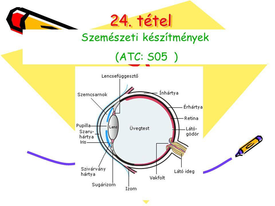24. tétel Szemészeti készítmények (ATC: S05 )