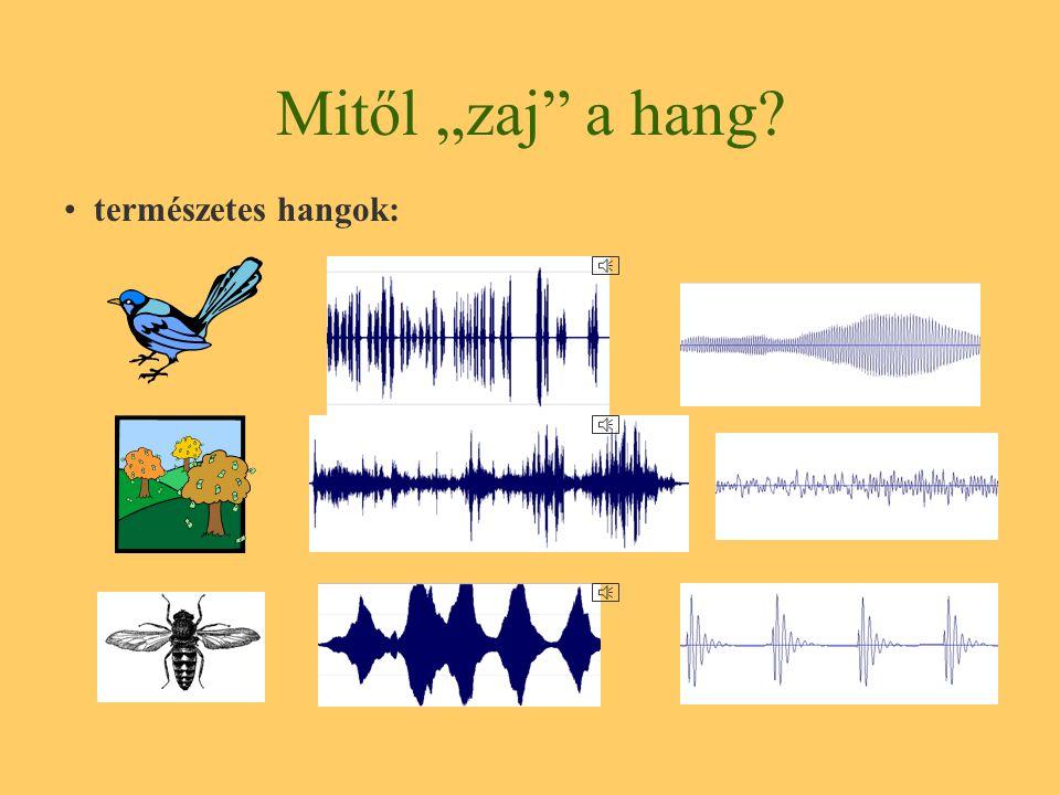 Hangok általános osztályozása természetes hangok biológiai természet hangjai mesterséges hangok hangszerek technikai hangok elektroakusztikai hangok