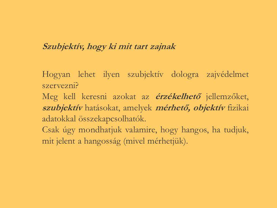 Információ két szintje: értesítés - rádió sávjai magyar/külföldi beszéd jelentés - magyar beszéd megértése - hangélmény A hangélmény a hang legfontosabb jelentéstartalma az ember szempontjából.
