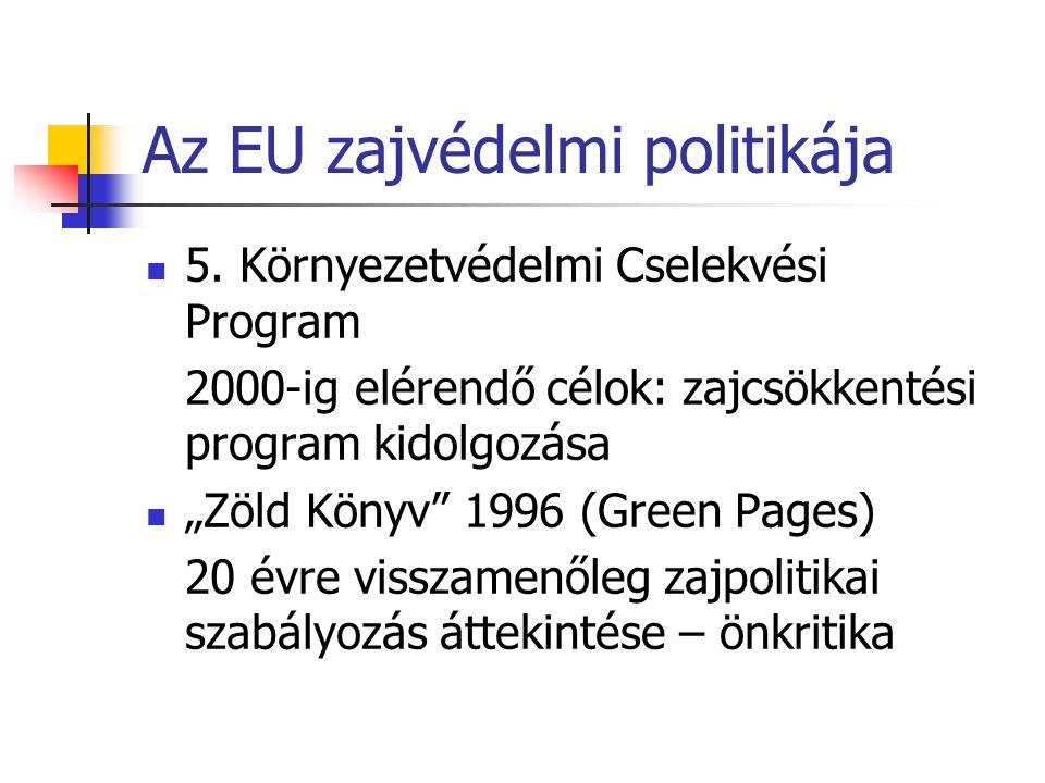 Az EU zajvédelmi politikája 5.