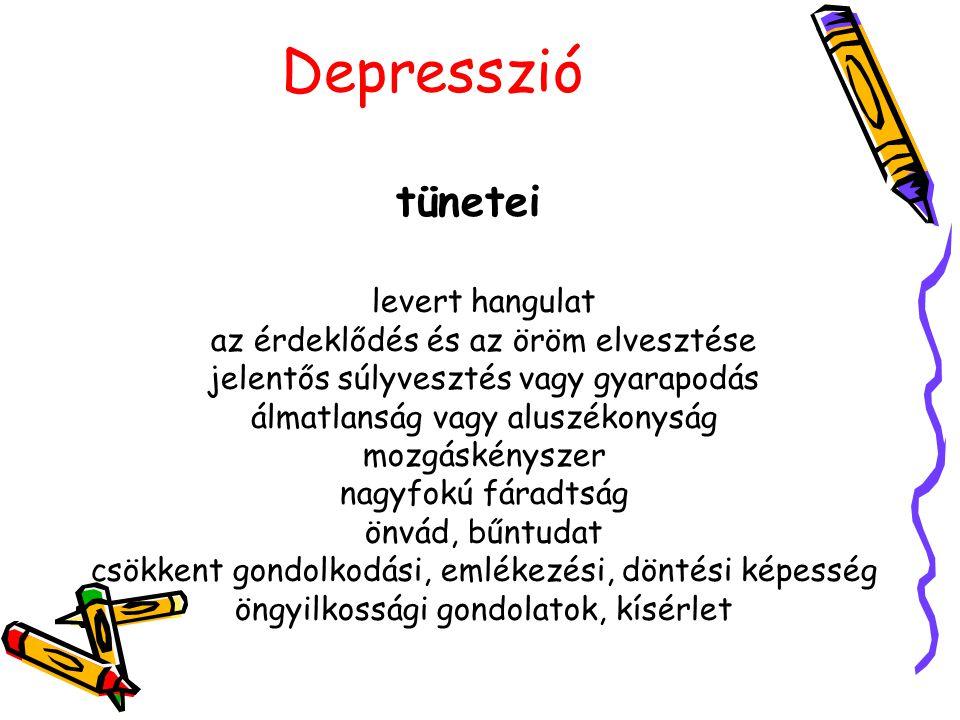 Depresszi ó noradrenalin szerotonin acetilcholin