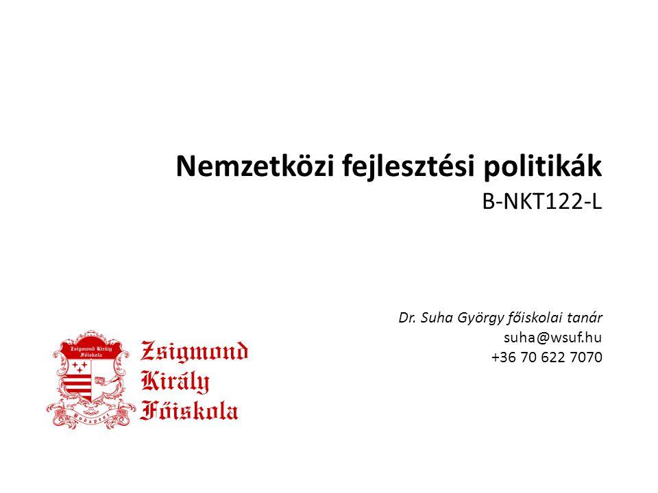 Nemzetközi fejlesztési politikák B-NKT122-L Dr.