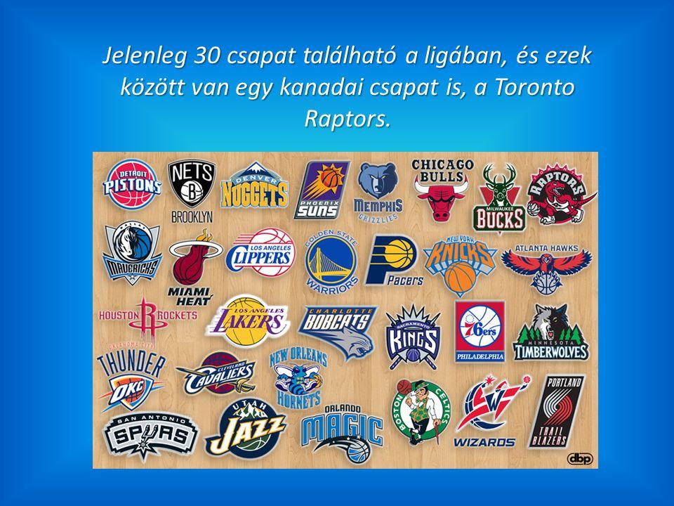 Jelenleg 30 csapat található a ligában, és ezek között van egy kanadai csapat is, a Toronto Raptors.