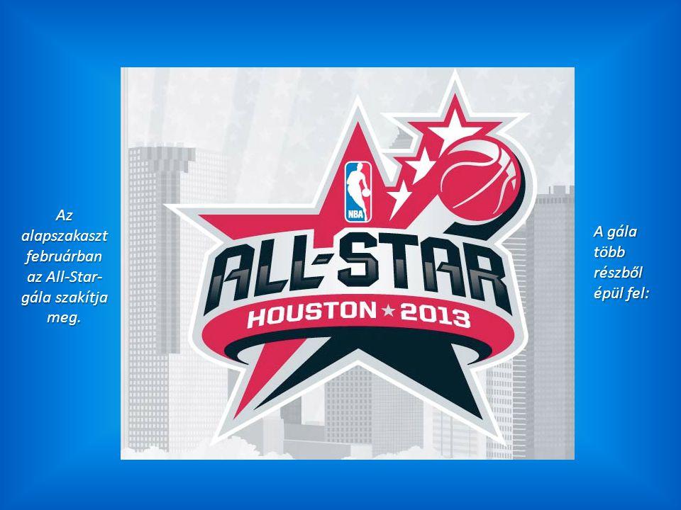 Az alapszakaszt februárban az All-Star- gála szakítja meg. A gála több részből épül fel: