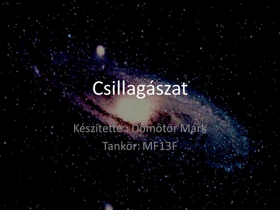 Csillagászat vagy asztronómia A Földön kívüli jelenségek megfigyelésével és magyarázatával foglalkozó tudomány.