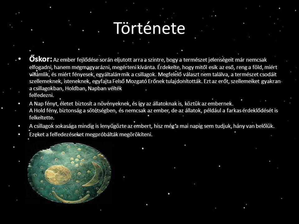 Ókor Eleinte a csillagászat csak a szemmel látható égitestek megfigyelésére és mozgásuk előrejelzésére korlátozódott.