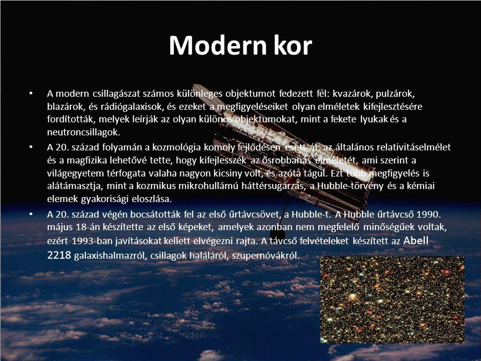 Csillagászati tudományágak Rádiócsillagászat A rádiócsillagászat a körülbelül 1 milliméternél nagyobb hullámhosszot tanulmányozza.