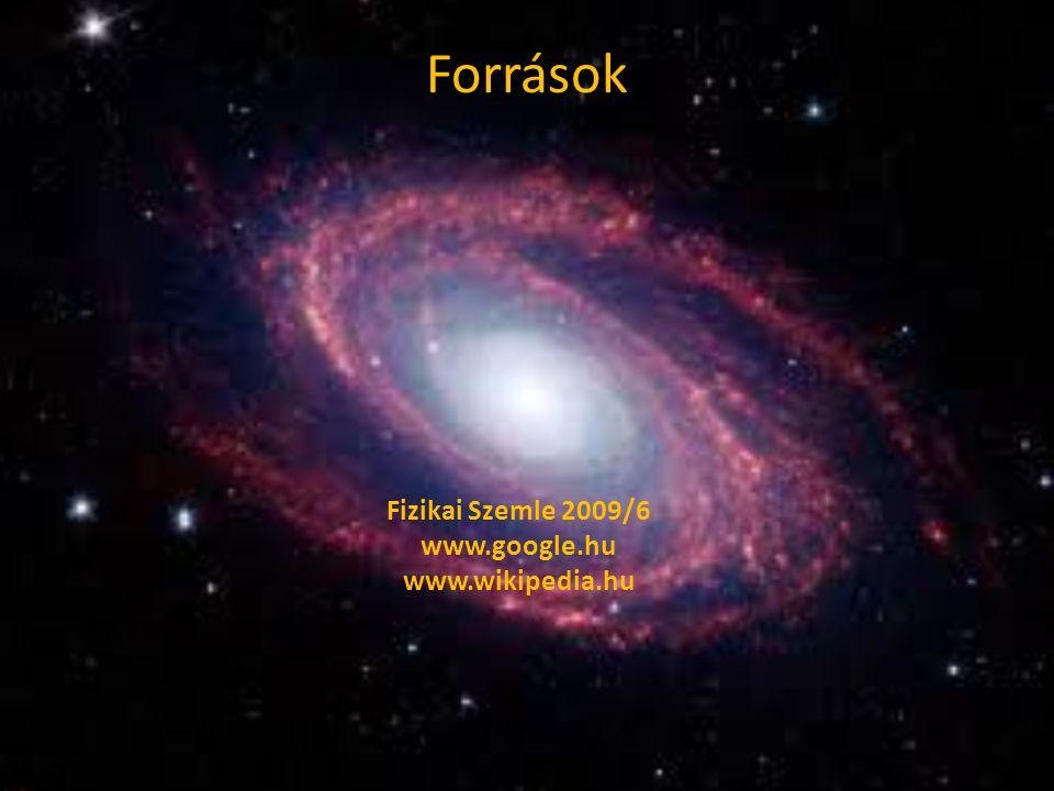 Források Fizikai Szemle 2009/6 www.google.hu www.wikipedia.hu