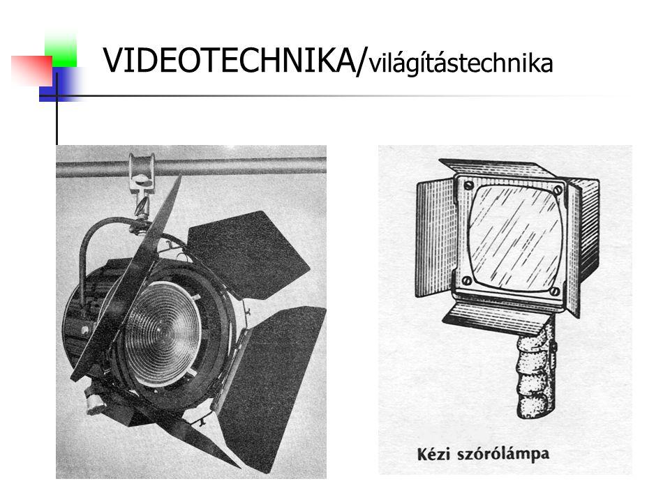 VIDEOTECHNIKA/ világítástechnika