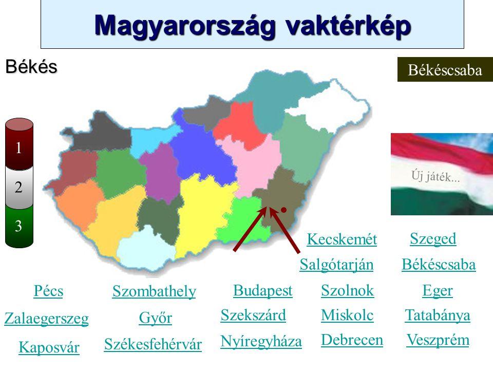 Magyarország vaktérkép Novák Ggergely BV Új játék... 3 2 Szabolcs-Szatmár-Bereg Kecskemét Szombathely Zalaegerszeg Kaposvár Pécs Győr Székesfehérvár S