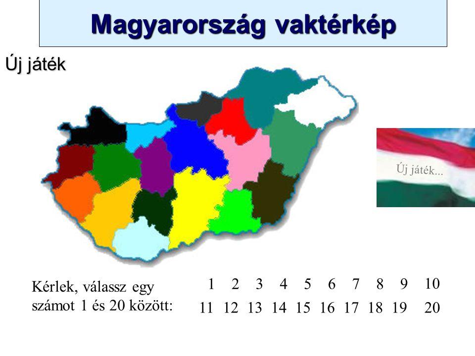 """Magyarország vaktérkép Novák Ggergely BV Új játék... Minden dia egy feladat. A gyakorlás kezdetekor a képernyő bal felső szélén (ahol most a """"Játéksza"""