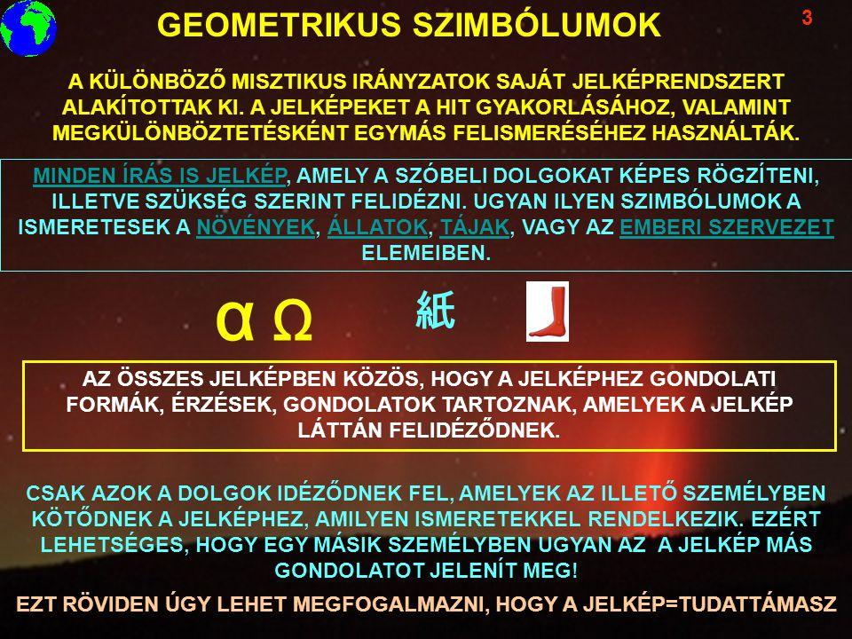 GEOMETRIKUS SZIMBÓLUMOK 3 A KÜLÖNBÖZŐ MISZTIKUS IRÁNYZATOK SAJÁT JELKÉPRENDSZERT ALAKÍTOTTAK KI. A JELKÉPEKET A HIT GYAKORLÁSÁHOZ, VALAMINT MEGKÜLÖNBÖ