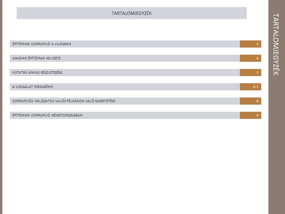 ÉPÍTŐIPARI KORRUPCIÓ A VILÁGBAN 2012-es korrupciós index IOB 2006-os tanulmánya az építőipari korrupcióról A mega építési projektek - irodaházak, bevásárlóközpontok és útépítési munkák – lehetőségeket adnak a korrupciós visszaéléseknek, vesztegetés és jutalék fizetés formájában.