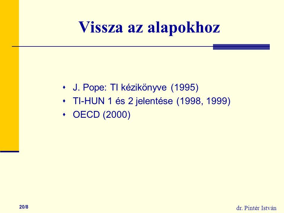 dr. Pintér István 20/8 Vissza az alapokhoz  J.