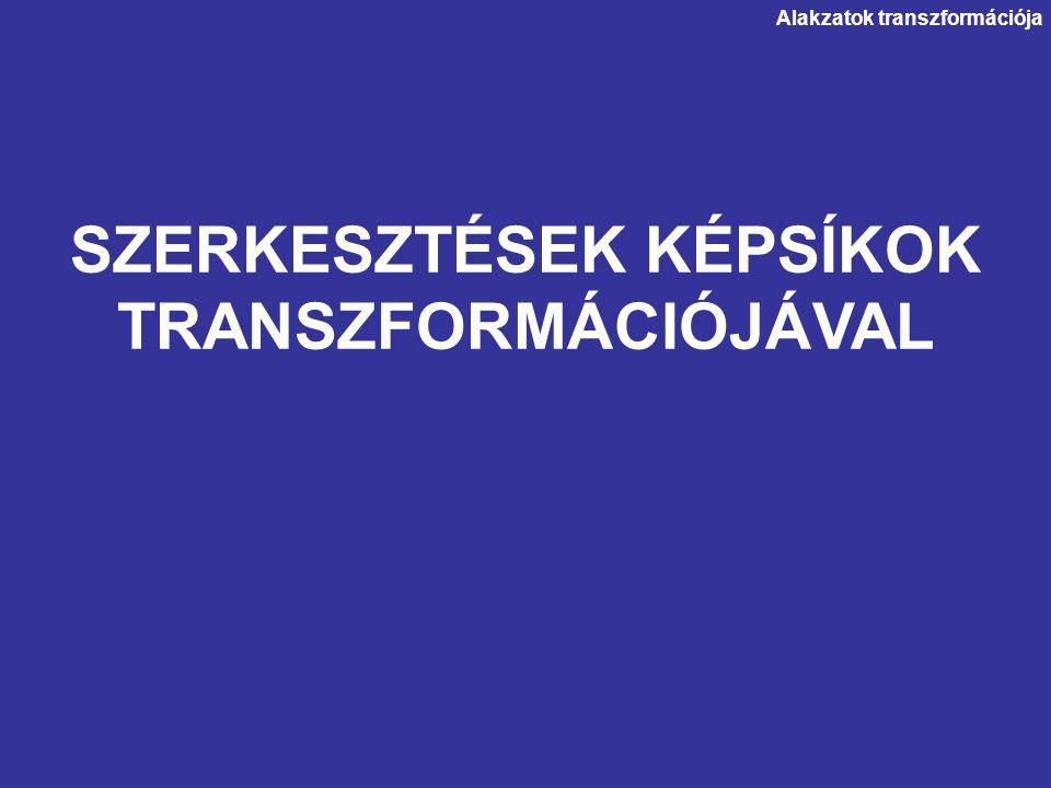 SZERKESZTÉSEK KÉPSÍKOK TRANSZFORMÁCIÓJÁVAL Alakzatok transzformációja