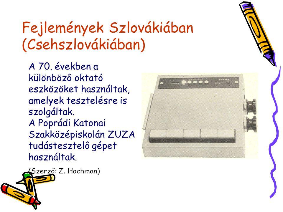 Fejlemények Szlovákiában (Csehszlovákiában) A 70.