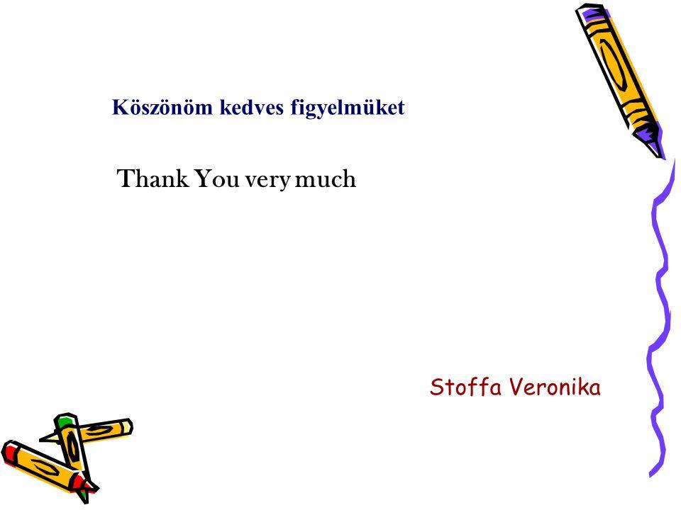 Stoffa Veronika Köszönöm kedves figyelmüket Thank You very much