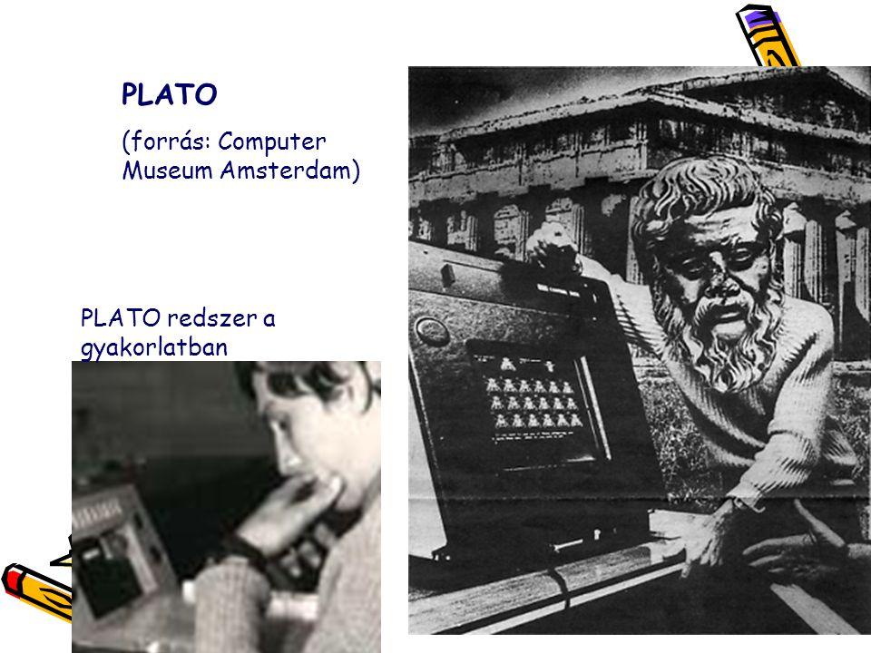 PLATO (forrás: Computer Museum Amsterdam) PLATO redszer a gyakorlatban