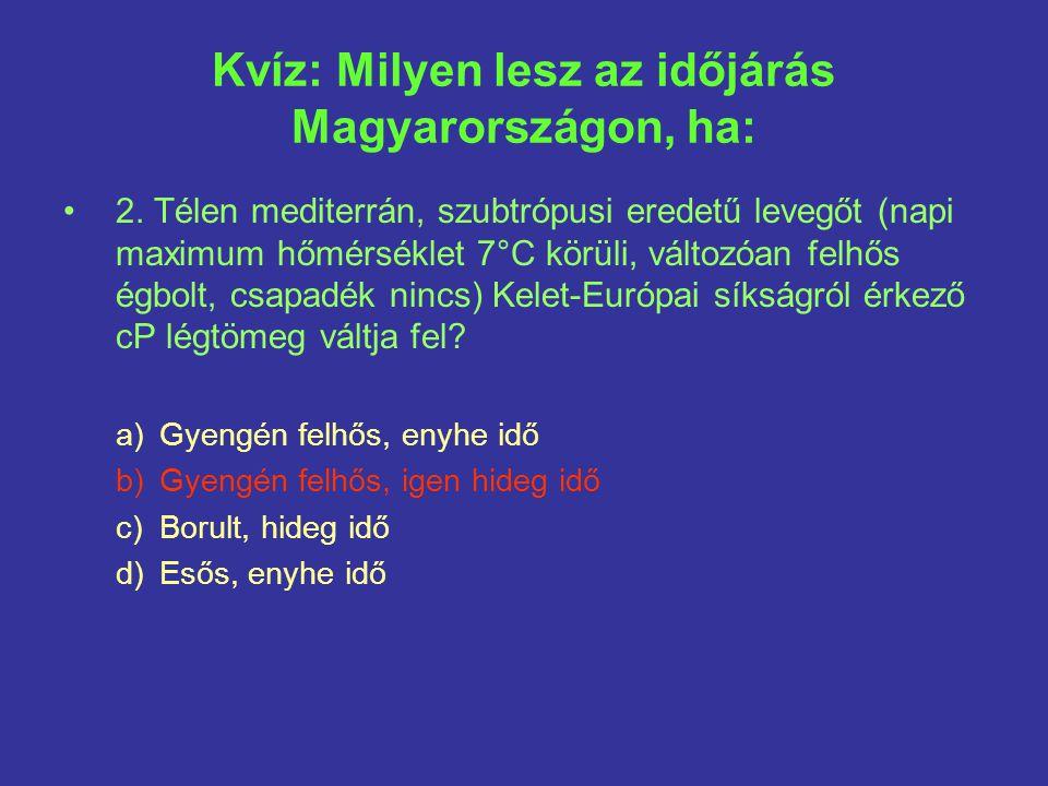 Kvíz: Milyen lesz az időjárás Magyarországon, ha: 2.