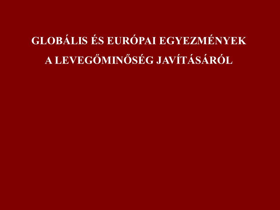 GLOBÁLIS ÉS EURÓPAI EGYEZMÉNYEK A LEVEGŐMINŐSÉG JAVÍTÁSÁRÓL
