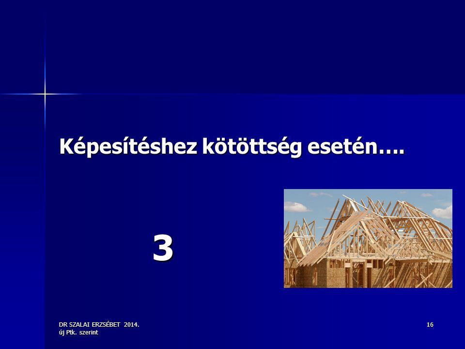 DR SZALAI ERZSÉBET 2014. új Ptk. szerint 16 Képesítéshez kötöttség esetén…. 3