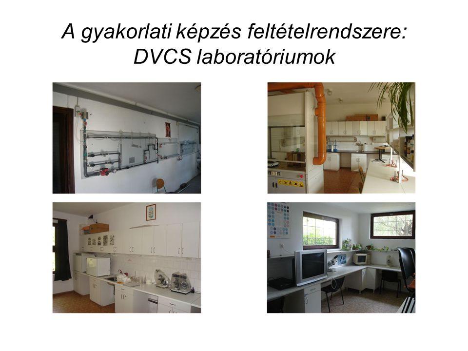 A gyakorlati képzés feltételrendszere: DVCS laboratóriumok