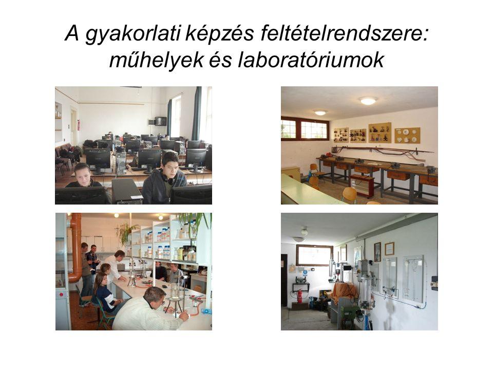 A gyakorlati képzés feltételrendszere: műhelyek és laboratóriumok