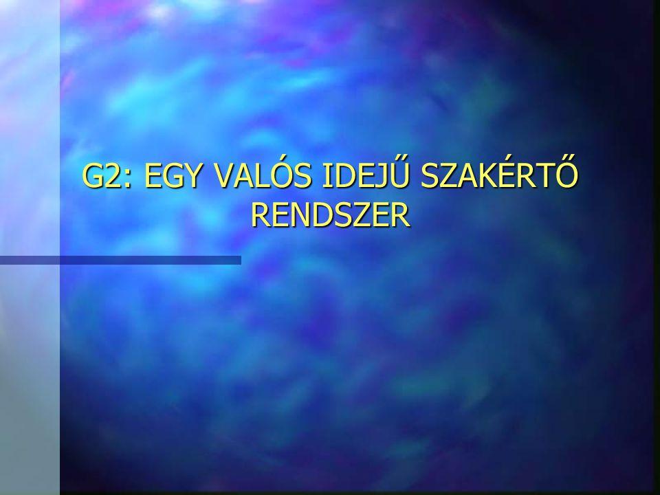 G2: EGY VALÓS IDEJŰ SZAKÉRTŐ RENDSZER