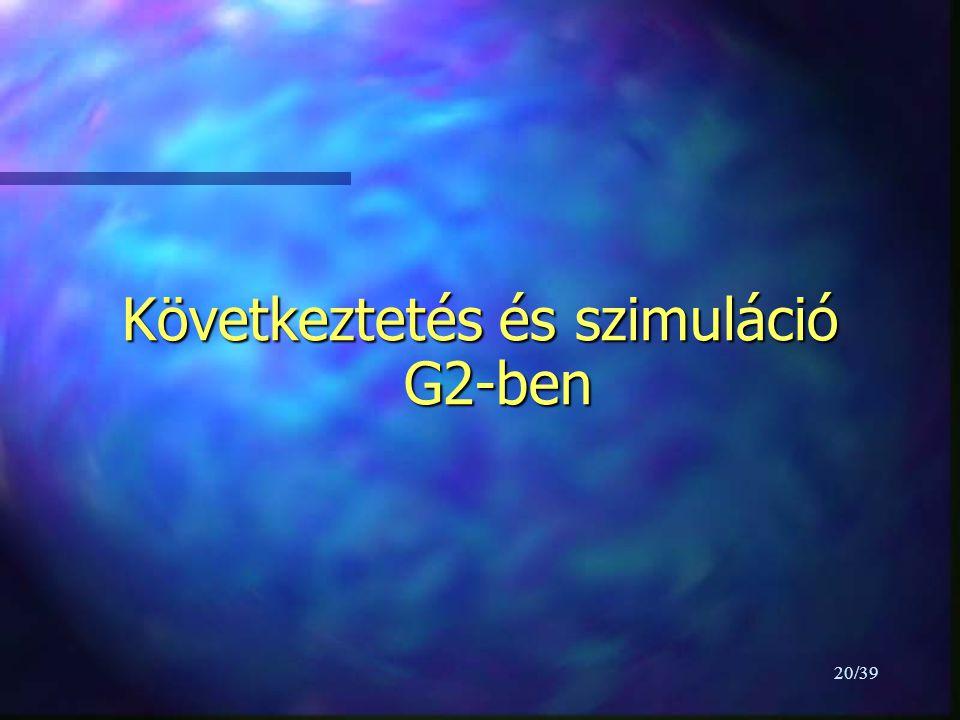 20/39 Következtetés és szimuláció G2-ben
