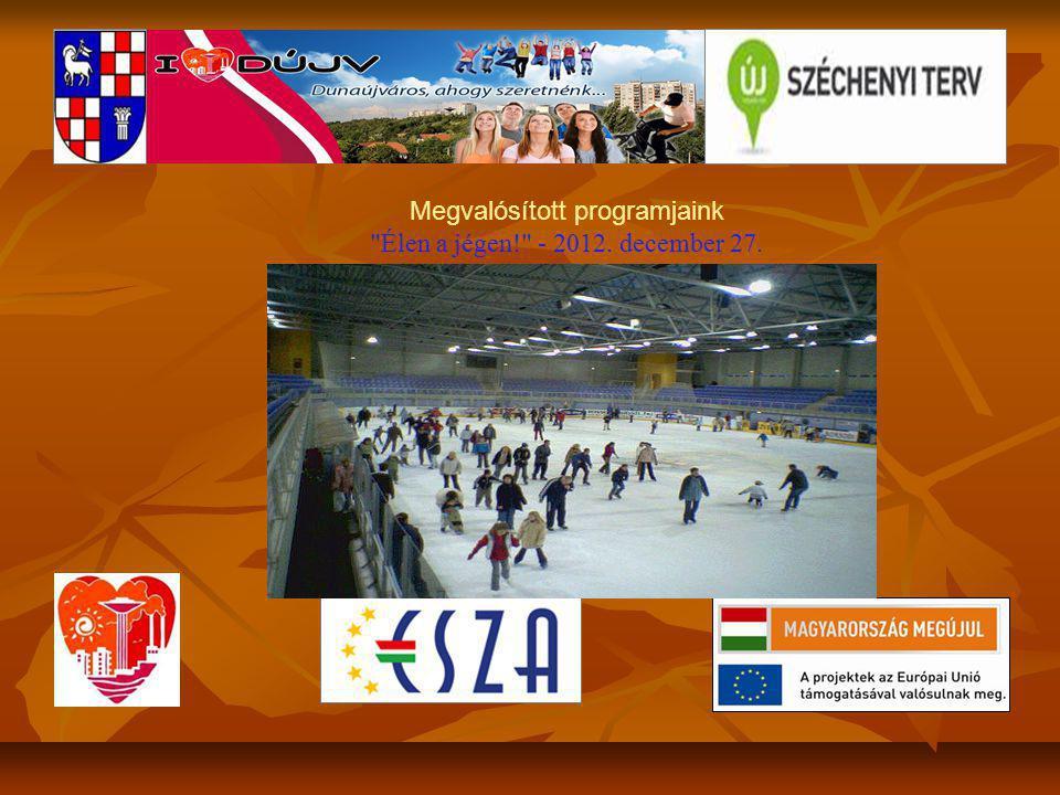 Megvalósított programjaink Élen a jégen! - 2012. december 27.