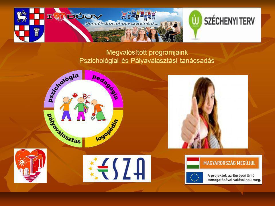 Megvalósított programjaink Pszichológiai és Pályaválasztási tanácsadás