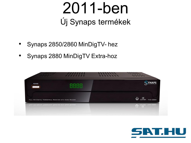 2011-ben Új Synaps termékek Synaps 2850/2860 MinDigTV- hez Synaps 2880 MinDigTV Extra-hoz